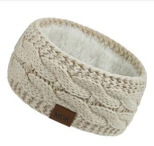 Knitted Headband Winter Women Lady Warmer Crochet Turban Head Wrap Plush Earflaps Elastic Headwrap Hairbands Accessories Ooa8466 wmtCYZj