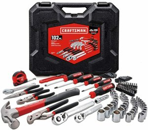 Nice 57 Piece Tool Set Kit Hammer Screwdrivers Ruler Pliers Wrench