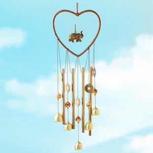 1 stück Herz Elefant Dream Catcher Metall Wind Pime Rohrglocke Anhänger Home Yard Garten Dekoration Hanging Ornamente Handwerk GWD4426
