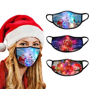 Masque lumineux de Noël Masque LED lumineux créatif pour les hommes et les femmes Bar Discothèque Dance Party de Noël de fête Props Atmosphere