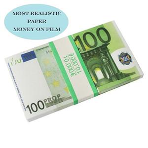 Euro En iyi kalite prop para kütük 10 20 50 100 200 500 Euro sahte film parası oyun para 100pcs / 03 pack