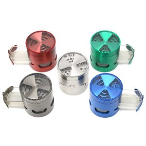 Diameter 63MM Zinc-Alloy 5colors Tooth Drawer Window Opening Tobacco Grinder Mill Smoke Spice Crusher Maker ZZC3549