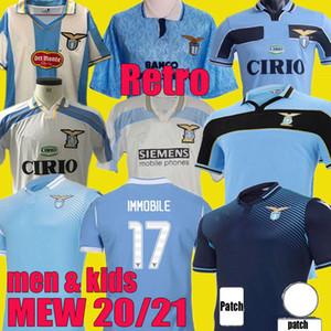 2000 1998 1991 1992 LAZIO RETRO MANCINI 2020 2021 120e Jersey de football Lazio Kit 20 21 Immobile Luis Bastos Alberto Sergej Chemise de football