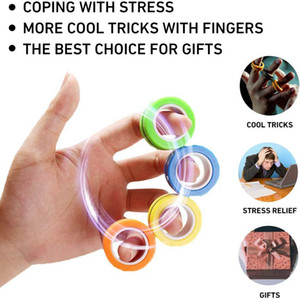 3pcs pack Magic Magnetic Rings Hand Toys Decompression Magnetic Rings Relief Novelty Magnetic Blocks Fidget Toys for Adults Teens Kids
