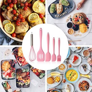 5 Pcs set Silicone Cookware Set Nonstick Heat Resistant Kitchen Cooking Baking Tools Kit Utensils Cooking Kitchen Accessory Silicone Tools