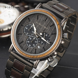 BOBO BIRD Wooden Watch Men Wristwatches Luxury Chronograph Date Show reloj hombre With Gift Box Q26-1 Accept Dropshipping 201120