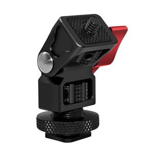 Mini Hot Cold Shoe Stand Monitor Mount Holder Rotation 360° for DSLR Field Monitor Mini Quick Release Plate Bracket
