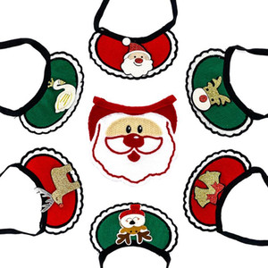 Dogs Bibs Christmas Dog Bandana Pet Supplies Accessories For Dogs Scarf Pets Puppy Appare Accesorios Elk Hair Ornaments EWA2547