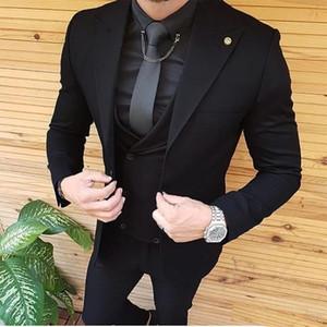 Mens Wedding Suits Groom Wear Tuxedos Prom Dresses Best Man Suit Party Suit Business Suit Three Pieces Suit( Jacket+Pants+Vest) W1217