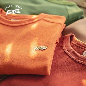 Maden Harajuku Vintage Badge Felpa Amante Solid Retro Autumn Cotton Swearshirt uomo Felpe da uomo Abbigliamento Cappotto Abbigliamento Homm Causeal Y1121