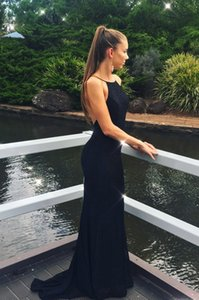 Charming Spaghetti Straps Black Evening Gowns Sexy Back Party Dress for Special Occations Vestidos De Festa Custom Made