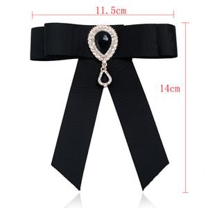 Förderung heißer verkauf neue großhandel - pin broschen rand trendy unisex diamant schmuck broche bogen brosche hemd kragen blume krawatte