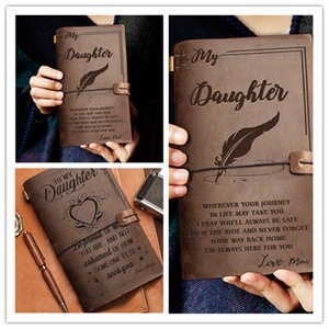 3Customized wholesale leather pocket book European-style business notebook retro strap travel notebook stationery notepad birthday gift