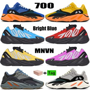 Nuevo 700 v1 v2 mnvn zapatillas reflectantes para hombre Orange Carbon Blue Tie-dye OG Solid Grey hombres mujeres zapatillas
