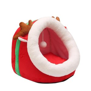 Promotion--Christmas Style Pet Nest Pet Supplies Cat Tunnel Cat Sleeping Bag Rest Toys Litter Pad Removable and Washable