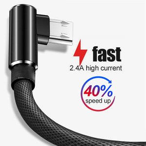 90 Degree Micro USB Cable Fast Charging Charger Phone Data Cord Microusb Cable For Samsung Xiaomi Huawei Type C Cable