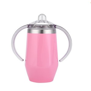 Baby Sippy Cup 8 Colors Diamond Shaped Stainless Steel Mug Insulated Kids Cup With Handle Wine Beer Glasses CCA2803