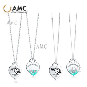 TF Fashion love sterling silver classic necklace ladies party birthday Christmas Gift Jewelry Wholesale