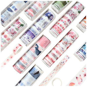 8 Pcs lot Cherry Blossom Forest Paper Washi Tape Diy Scrapbooking Sticker Label Masking Tape School Office Supply T200229 2016