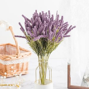 Artificial Plant Lavender Wheat Ears Home Decor Christmas Crafts Flower arrangement Diy Living Room Fake Flowers Bonsai Wedding