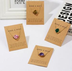 Imitazione Stone Natural Stone Shaped Pendant Dichiaration Chokers Desiderate collane collane gioielli al quarzo rosa quarzo cristalli di guarigione PS0593