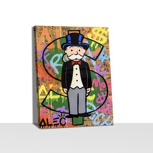 Alec Monopoly Picture Home Decor Nordic Canvas Painting Wall Art Hand Posters and Print for Living Room