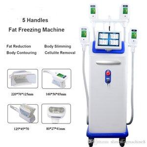 Fast shipping 5 cryo lida com gordura frigideira máquina de emagrecimento qualquer 4 alças de congelamento pode trabalhar juntos