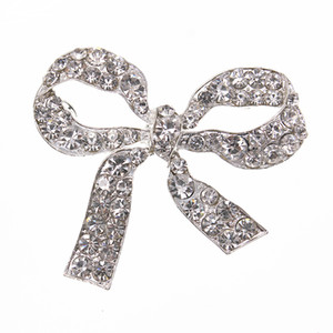 Fashion New Custom Clear Crystal Rhinestone Large Size 73*63mm Bow Knot Women Pins Brooches for women decoration