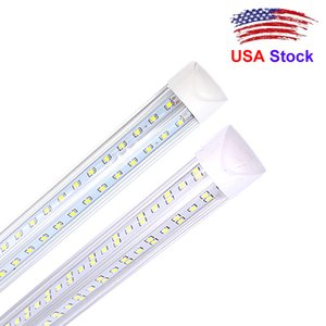 4ft led tube V shaped led 36W 5FT 45W 6FT 56W 8FT 72W Integrated Cooler Door Led Fluorescent Double Glow lighting AC 85V-265V