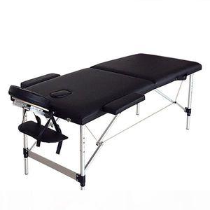 Folding Portable SPA Bodybuilding Massage Table Black