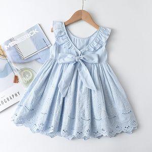 Toddler Princess Kids Dresses Summer Cotton Children Clothing Sleeveless for Girl Dress Girls Clothes Embroidery Vestido 2-6T
