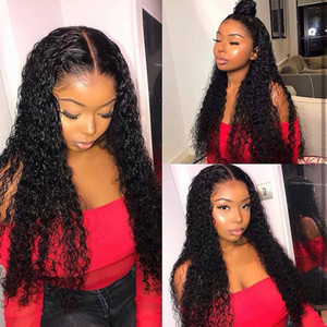 Lace Front Human Hair Wigs for Black Women Deep Wave Curly Hd Frontal Bob Wig Brazilian Afro Short Long 30 Inch Water Wig Full13