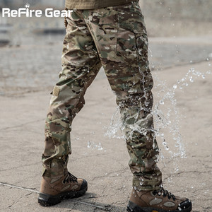 ReFire Gear Camouflage Military Pants Men Multi Pocket Wearable Tactical Combat Pant Army Waterproof SWAT Special Cargo Trouser X1116