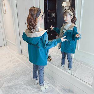 Girls Autumn Coat 2020 New Style Childrens Fashion Net Red Childrens Clothing Big Children Korean Style Long Windbreaker Fashion