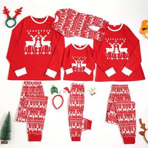 Fashion Adult Women Kids Christmas Cartoon Deer Printed Pajamas Family Matching Romper Jumpsuit Sleepwear 2pcs Sets Top+pants#p4