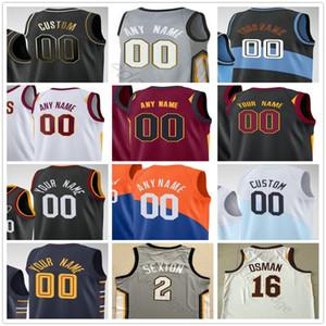 Custom Impress Isaac Okoro Kevin 0 Love Collin 2 Sexton CEDI 16 Osman Andre 3 Drummond Hombres Mujer Niños Cleveland Cavaliers Baloncesto Jerseys