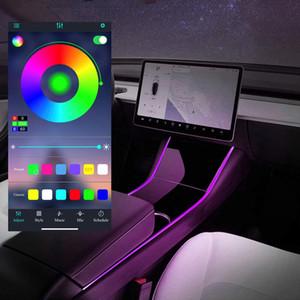 Tesla Model 3 Model Y Neon Light Tubes RGB Interior LED Strip Lights with App Controller