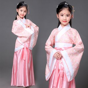 Ancient chinese costume kid hanfu tang dynasty traditional dress girlbaby princess toddler fairy beauty child ballroom dance Z1127