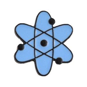 DCarzz Rame Atom Bag Pin Bag Biologia Biologia Chemistry Teachers Nucleus Smalto Pins in metallo Vestiti Spilla gioielli moda regalo Donne