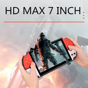 Max 7 inch HD Screen Game Console 16GB Arcade Games Player Handheld Joystick Portable Retro Gaming Consoles PK New X12 Plus X7 NES620