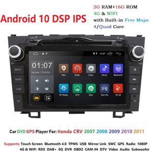Android 10 HD 1024*600 Car DVD Player Radio For Honda CRV 2007 2008 2009 2010 2011 4G WIFI GPS Navigation Head Unit 2 din 2GRAM