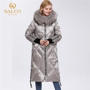 Salco GRATIS Envío El último abrigo de piel real de Pearl-algodón de algodón de algodón Cuerpo 2020 C1204