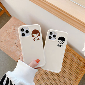 Cartoon Cute Phone Case Apple 11 iPhone12promax silicone xs xr fall-proof 8plus soft 7p simplicity