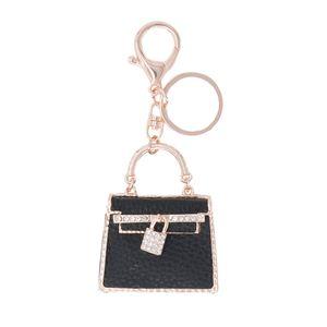 Charm Bag HandBag Crystal Bag Lovely Keyring Buckle Women Gift DIY Party For Keychain Purse Pendant Key Chain Ring Dwtxc