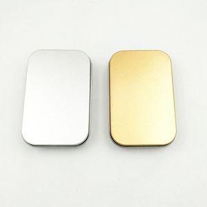 القصدير مربع فارغة الفضة الذهب تخزين مربع حالة المنظم للمال عملة الحلوى مفاتيح يو القرص سماعات الحلوى مربع