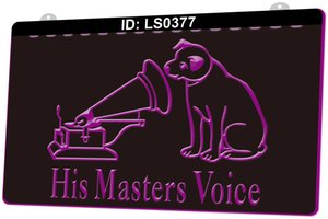 LS0377 His Masters Voice 3D Engraving LED Light Sign 9 Colors Wholesale Retail Free Design