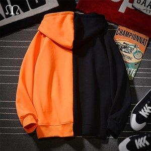 Zipper Suéter Homens Capuz Hoodwear Hoodies Homens New Hip Hop Oversized Hoodie Men Gym Tracksuits Outwear Patchwork Hoody 201210