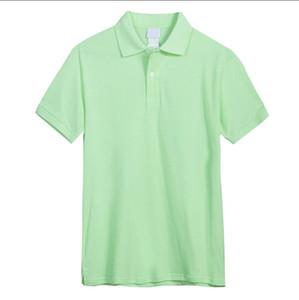 Новые Летние Полоса Мода Вышивка Мужские Рубашки Поло Высокое Качество Футболка Мужчины Женщины High Street Повседневная Топ Топ высокого качества