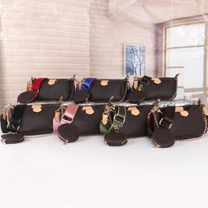 Venta 3 pieza conjunto diseñadores bolsas mujeres crossbody bolsa multi pochette accesorios lujo bolsos bolsos monederos lady bolsas bolsas moneda monedero tres artículo