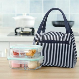 Cartoon Printed Canvas Lunch Bag Insulated Thermal Cooler Bags Picnic Box Supply Tote Picnic Storage Bag Pouch Lunch Bags